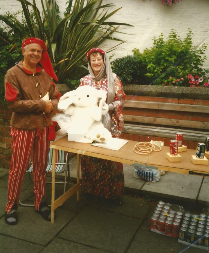 Pilton Festival 1996 - the Hoopla Stall in aid of Pilton House Residential Home