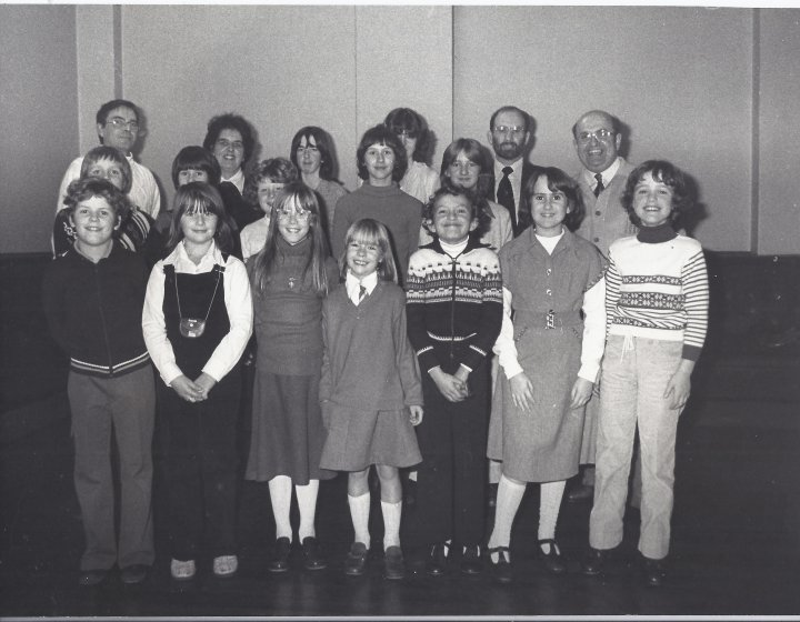 Pilton Youth Group Singing Carols at the Queen's Hall in 1979