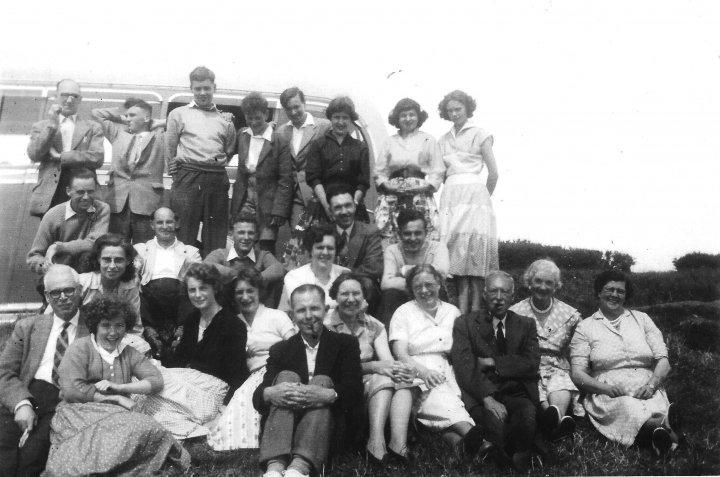 Pilton Church Choir Outing in about 1956