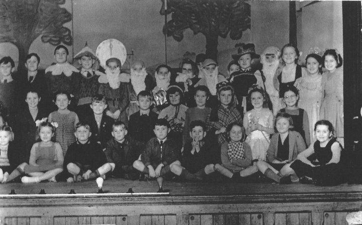 Snow White and the Seven Dwarves, School Panto in Pilton in 1949-50