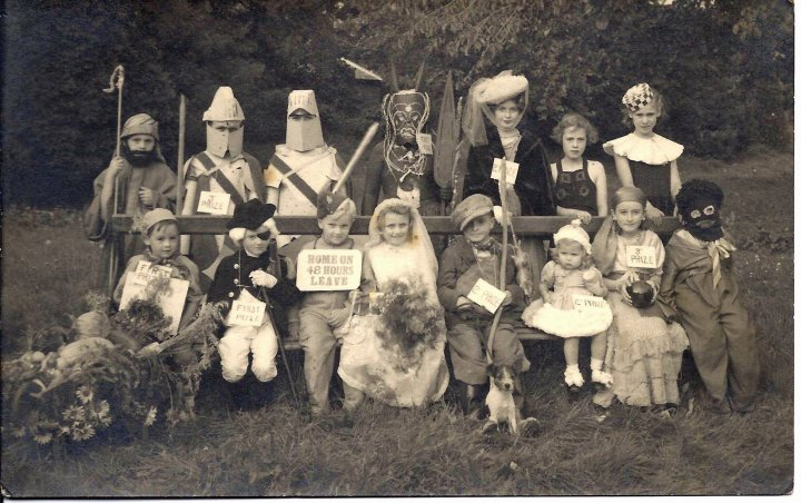 Children's Fancy Dress Competition (First Group) on Victory in Europe Day 1945