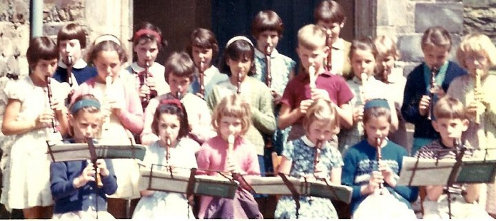 Recorder Group at Pilton C of E School in June 1967