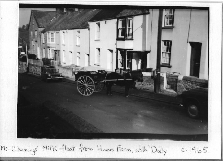 Mr Chamings' Milk Float in Bradiford in about 1965