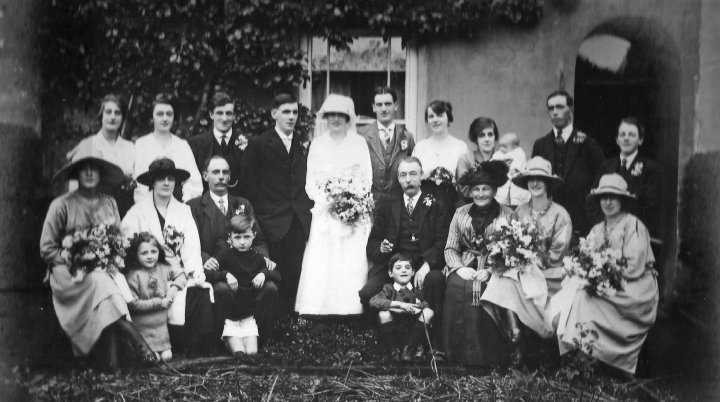 The Wedding of Alfred Edward Hobbs and Jane Bartlett, Saturday 3rd July 1920