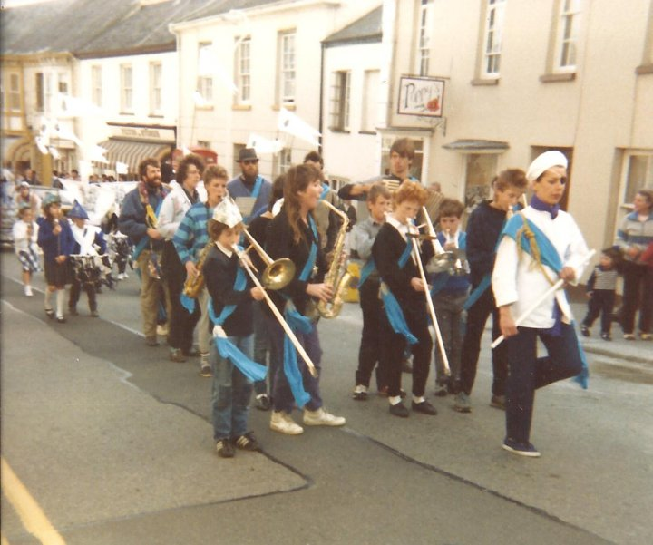 Easter Festival Parade with Marching Band 1987