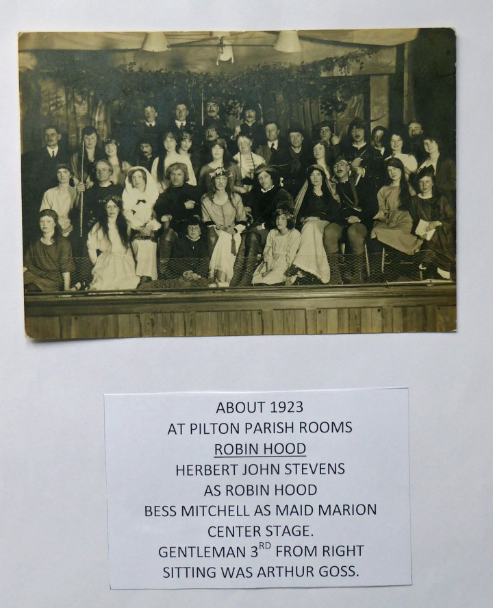 The Musical 'Robin Hood' in Pilton Church Hall c.1923