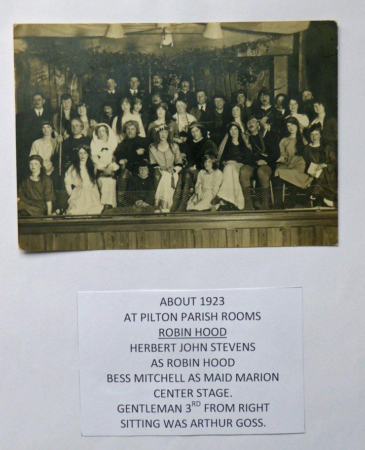 The Musical 'Robin Hood' in Pilton Church Hall c.1923