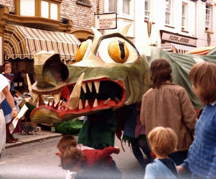 Chinese Dragon in the 1984 (?) Pilton Festival