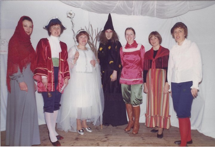 Pilton Women's Institute Pantomime  'Cinderella' in the early 1980s