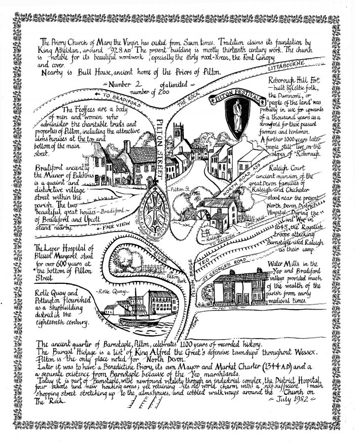 The 1982 Map of Pilton for First Festival