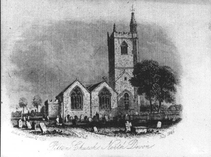 St Mary's Church, Pilton in July 1849