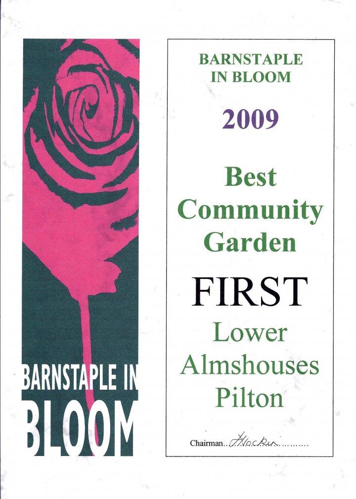 Barnstaple in Bloom Winner 2009 - Best Community Garden - Lower Almshouses Pilton