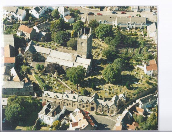 Aerial View of St Mary's Church, Pilton