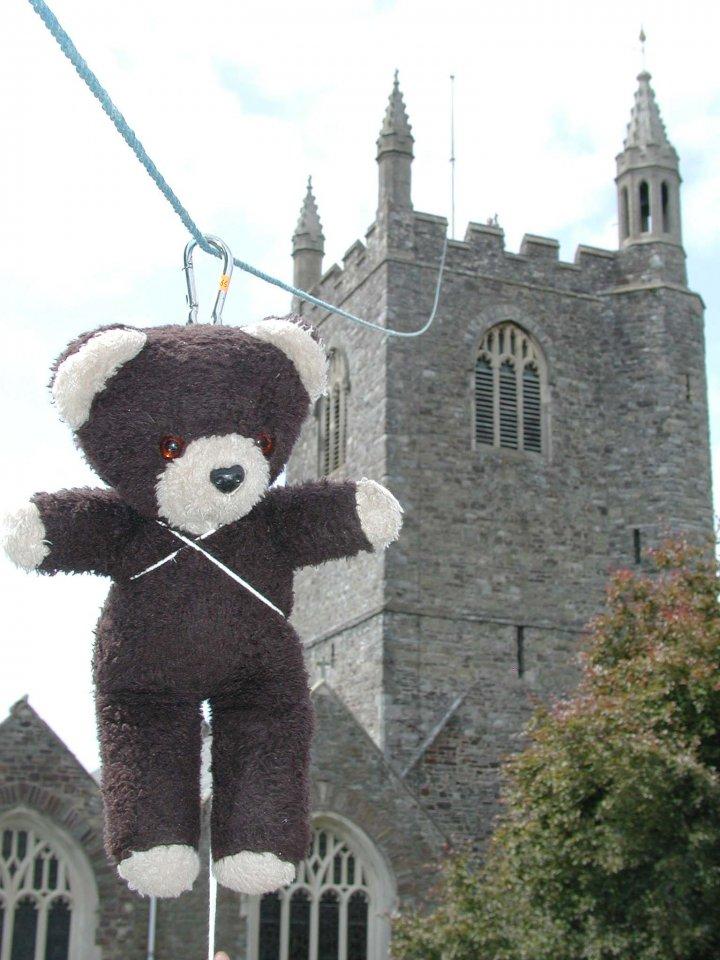 Teddy Bear Jump at Pilton Festival 2004