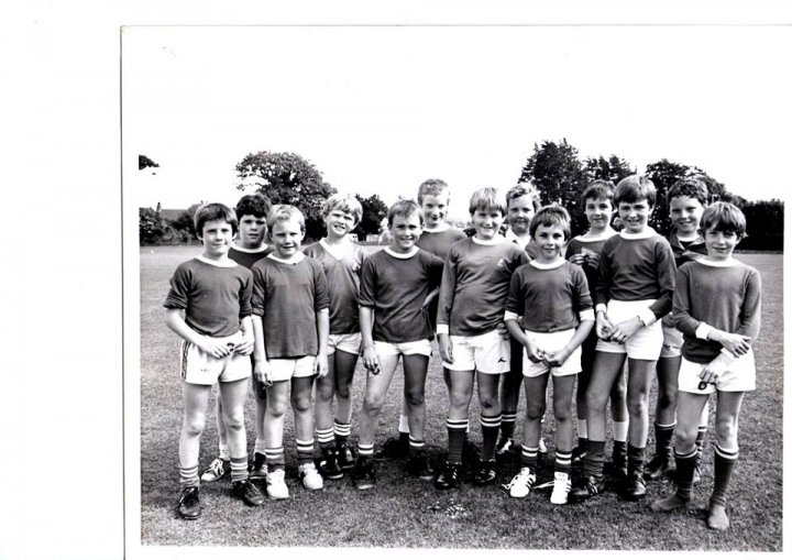 Pilton Bluecoat School Football Team in 1981/82
