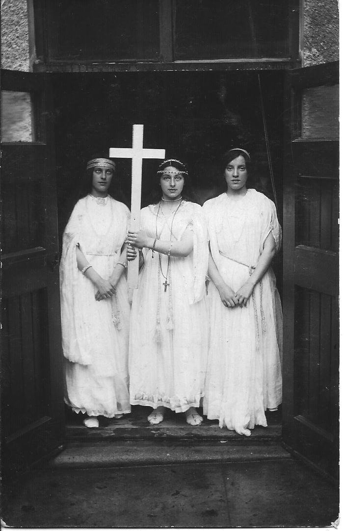 Actresses in Pilton Church Rooms in around 1920
