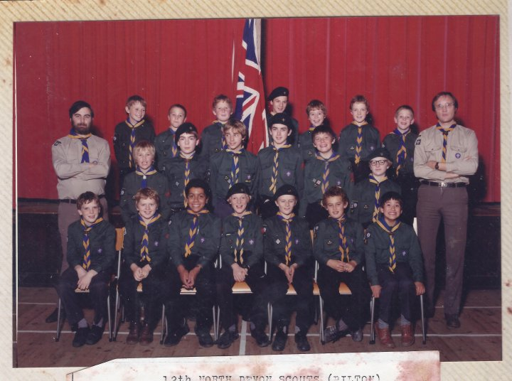 12th North Devon (Pilton) Scouts in the early 1980s