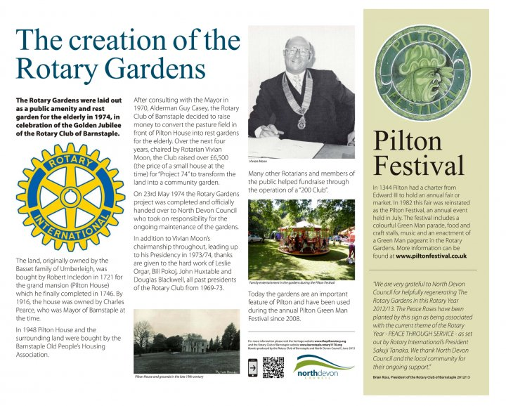 The Creation of Rotary Gardens 2013
