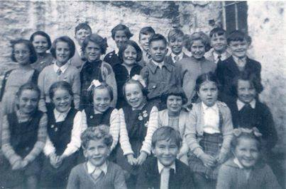Girls and Boys of Pilton School in 1955