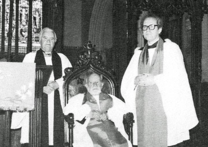 Other Clergy and Readers at St Mary's Church, Pilton, in 1986