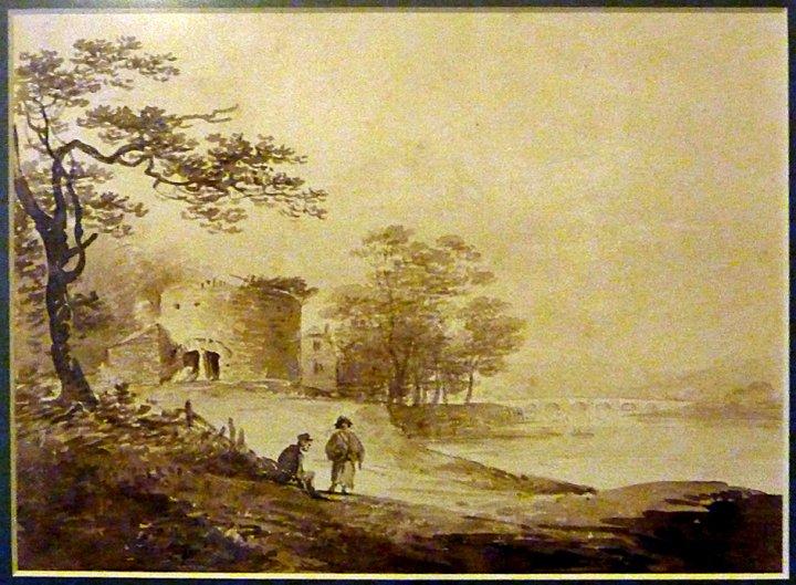 Watercolour of Lime Kiln at Pottington by William Payne c 1810-19
