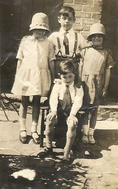Four Pilton Residents in Priory Gardens in the 1920s