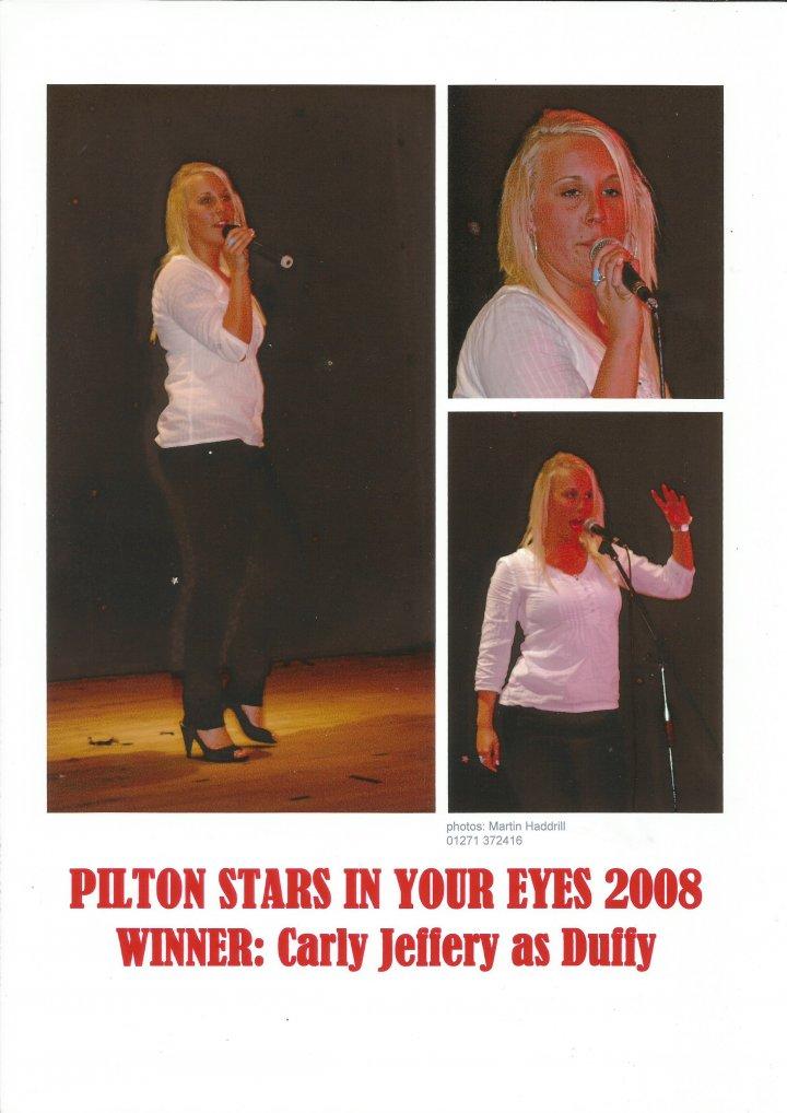2008 Pilton Stars in Your Eyes Winner Carly Jeffery