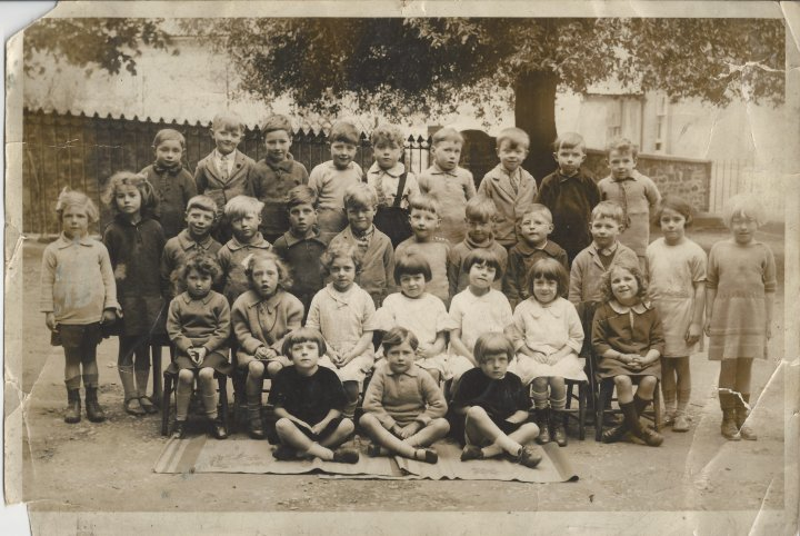 Maurice Huxtable at Pilton School in the late 1920s