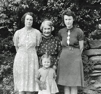 Four Generations of the Passmore Family in the mid-1940s