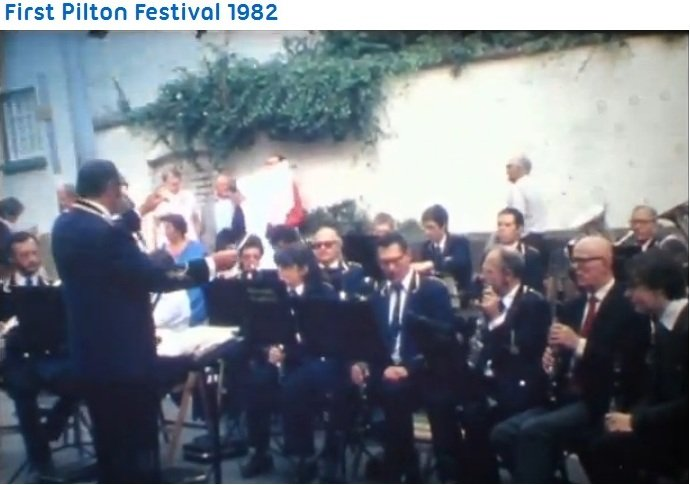 Barnstaple Concert Band at Pilton Festival 1982