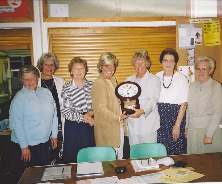 Pilton WI Presents a Millenium Clock to North Devon Hospice in 2000
