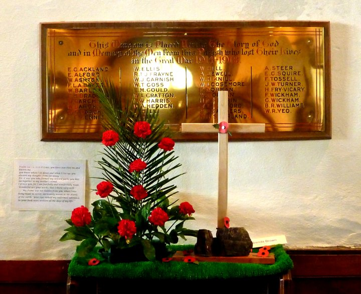 The Men from Pilton Parish who died in the Great War 1914-18