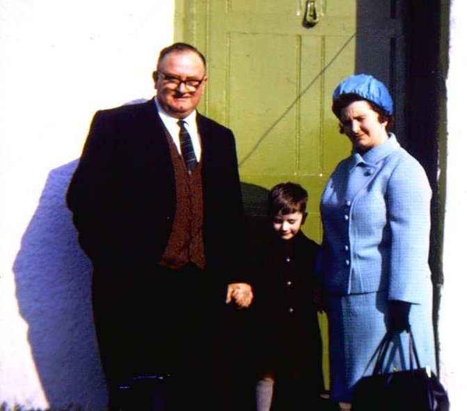 Joyce and Charlie Parsons and their son Richard probably in 1960s