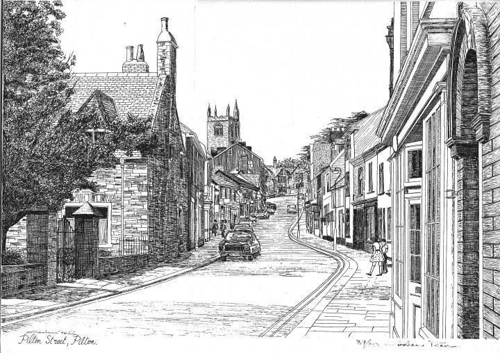 Drawing of Pilton Street by Graham Penn