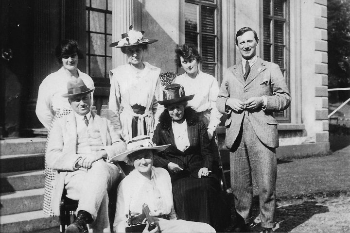 Charles Pearce of Pilton House with his family c.1917