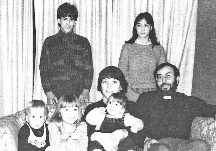 The Family of Rev Anthony Geering of Pilton Church in 1986