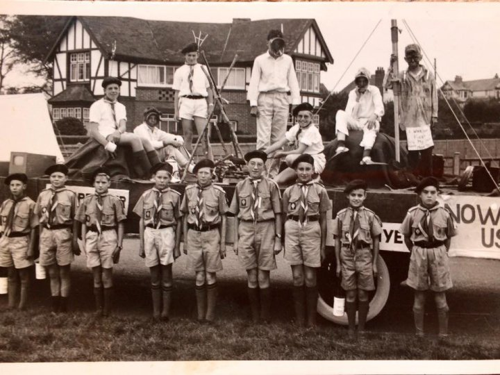 12th North Devon Scouts' Float at Barnstaple Carnival in 1962