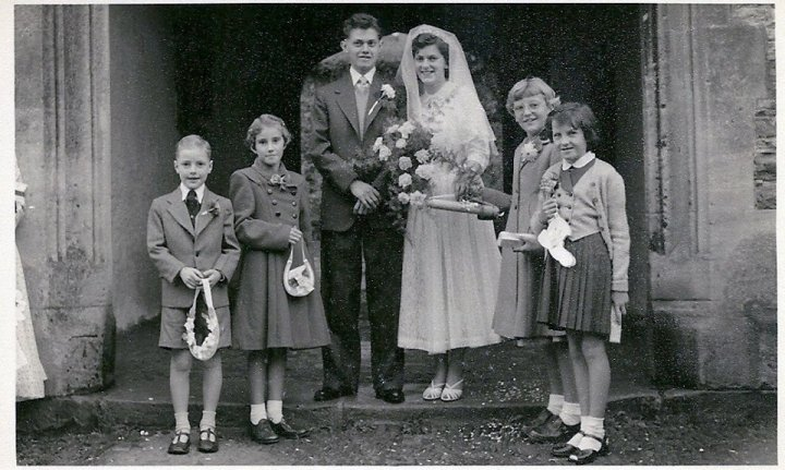 Wedding of Betty Parkhouse and Patrick Crook in the mid 1950s