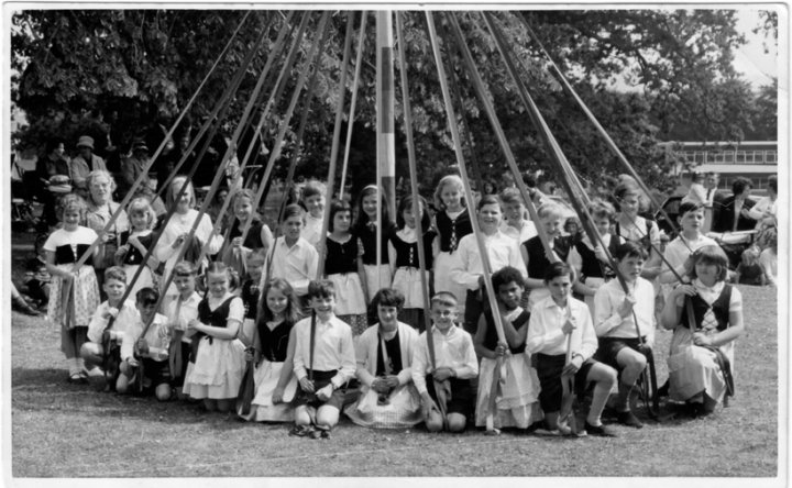 Primary School Maypole Dancing Team 1965