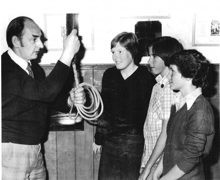 First Female Bellringers in St Mary's Church Pilton in 1978