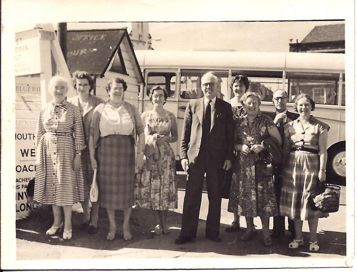 St Mary's Church, Pilton, Choir Outing in the late 1950s