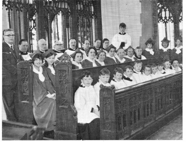 Pilton Church Choir in 1986