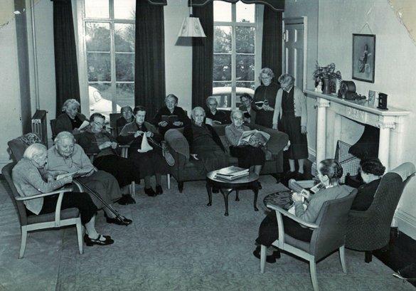 Residents of Pilton House in February 1961