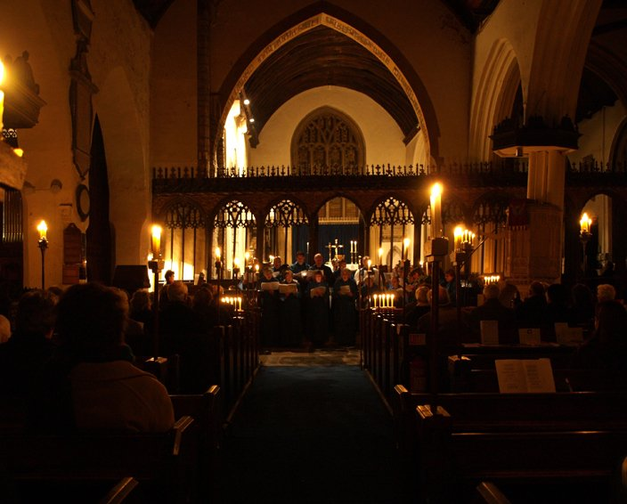 A 'Darkness to Light' service in St Mary's Church, Pilton on Advent Sunday 2008