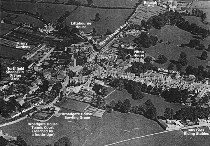 Aerial View of Pilton about 1933