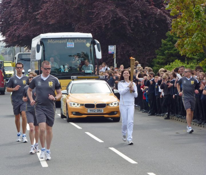 The Olympic Torch passes through Pilton on 21st May 2012