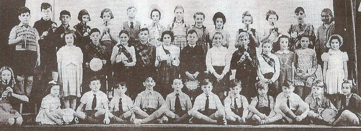 Pilton Primary School Pupils in the Church Hall around 1950