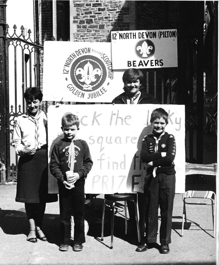 12th North Devon Beavers on Penny Day, April 1984