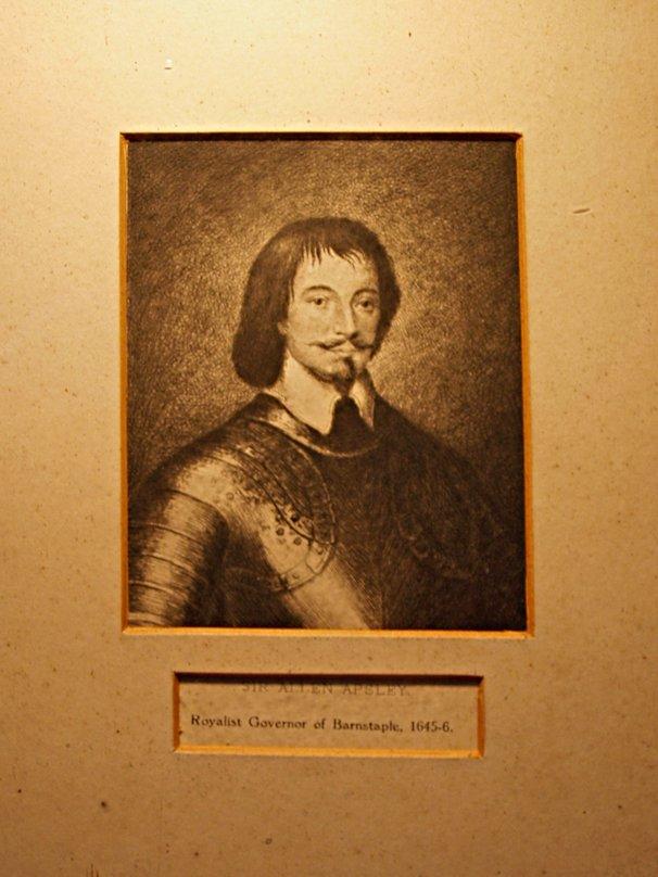 Sir Allen Apsley, Royalist Governor of Barnstaple 1645-6