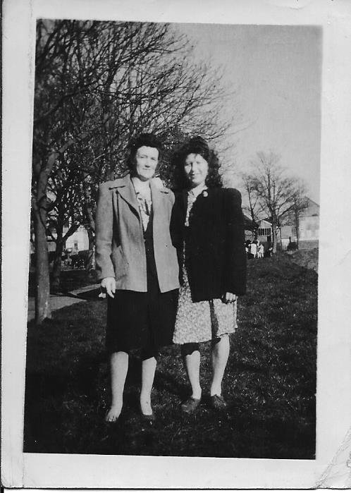 Beatrice Swain and Margaret Webber of The Rock, Pilton